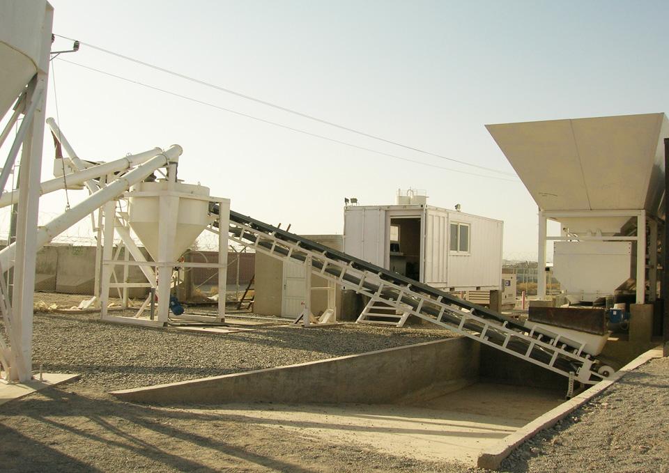 Cement Plant Parts : Dry concrete batching plant mev